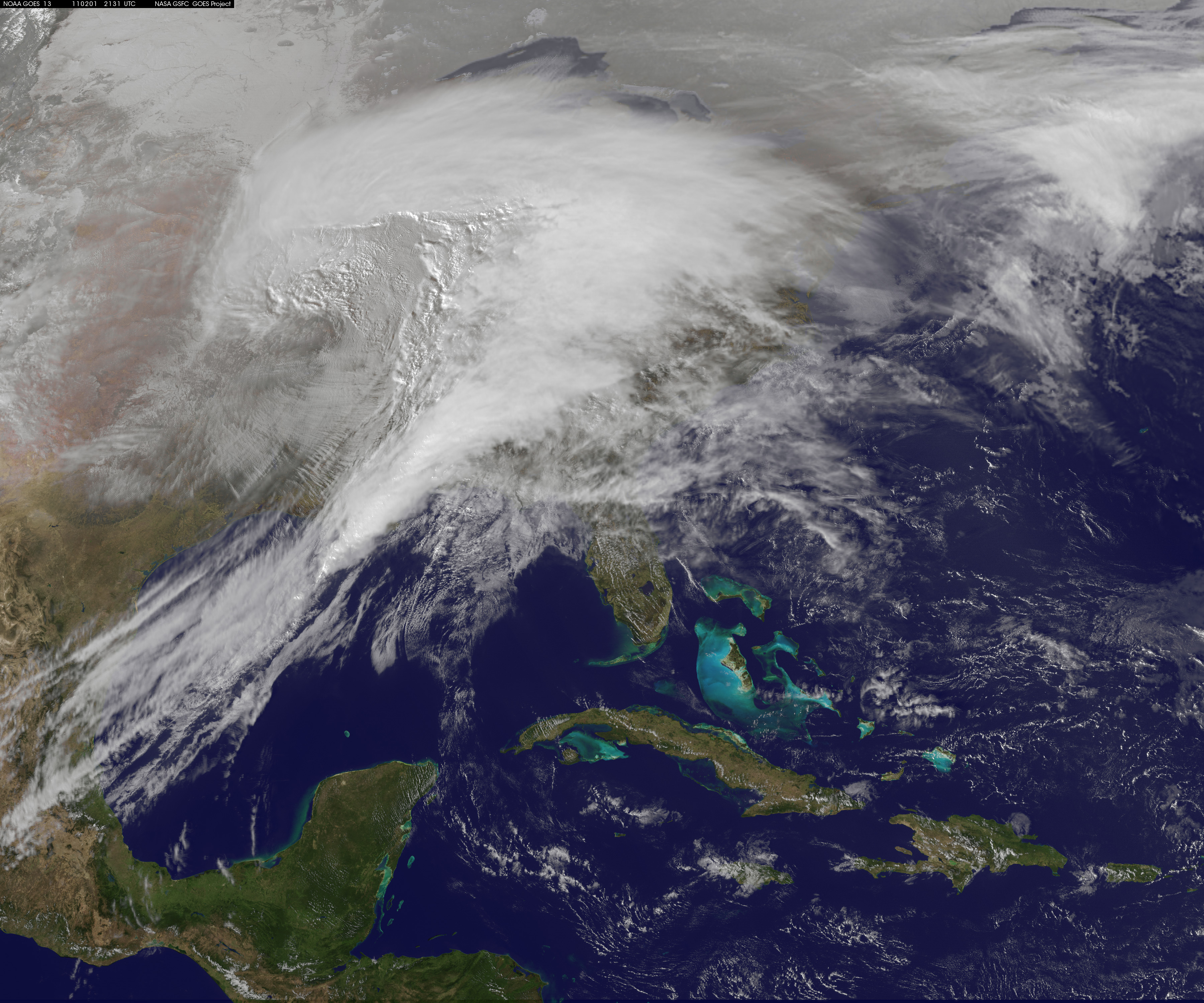 Watch the Winter Storm Attack (as seen from space)