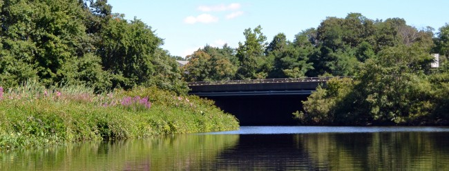 Charles River passing under I-95