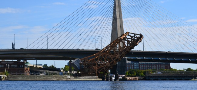 Railroad Bridge and the Zakim Bunker Hill Bridge
