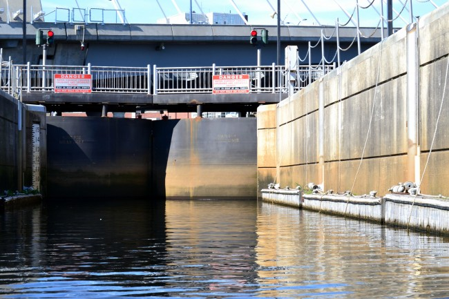 Inside the Charles River Dam Lock