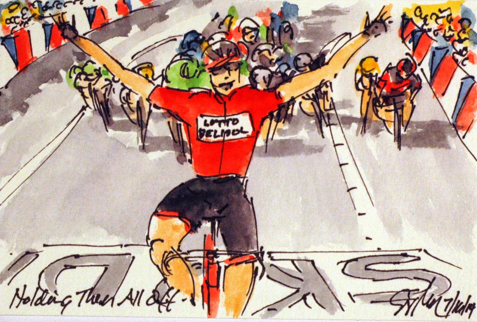 Tour de France in Watercolors