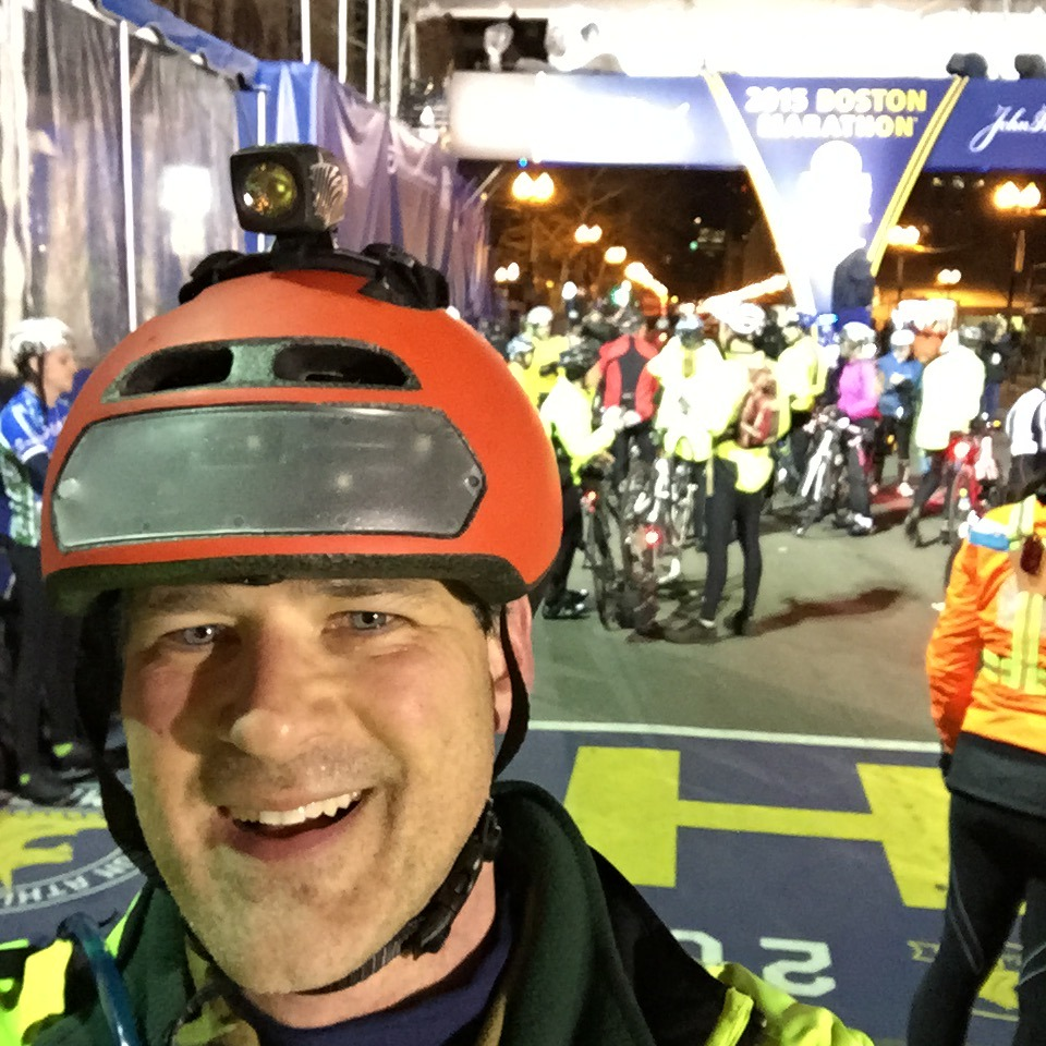 Riding the Boston Marathon Midnight Bike Ride
