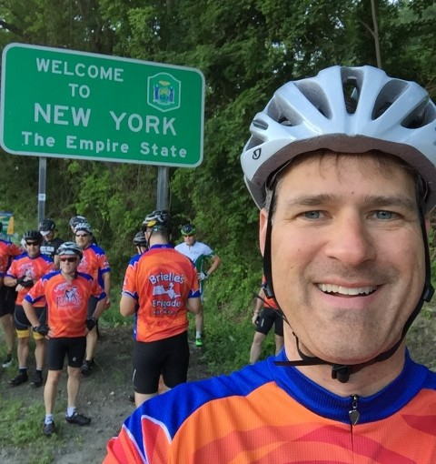 Doug at the New York Border